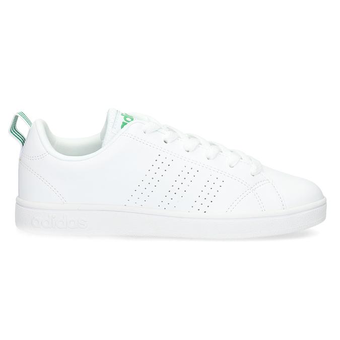 Weisse Sneakers mit grünen Details adidas, Weiss, 501-1300 - 19
