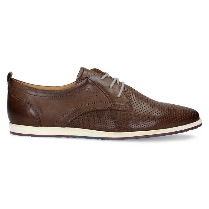 Lässige Leder-Sneakers bata, Braun, 824-4124 - 19