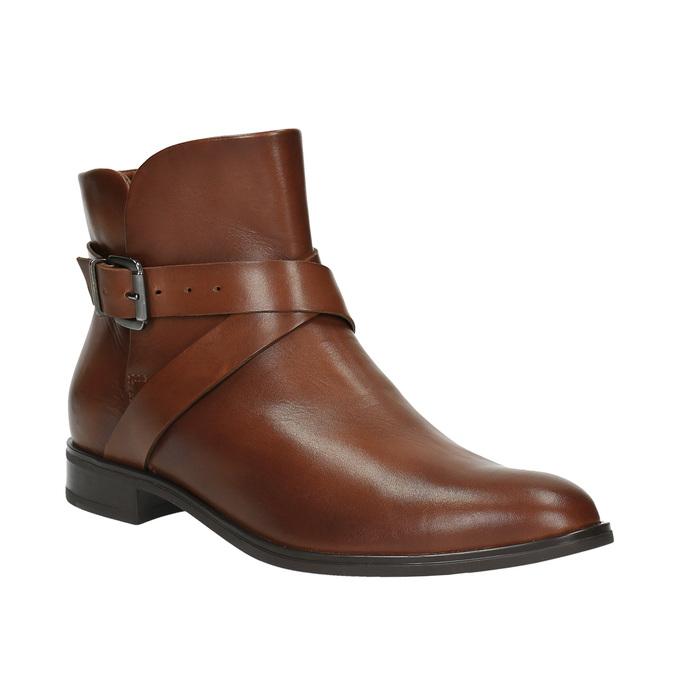 Knöchelschuhe aus Leder mit einer Schnalle bata, Braun, 594-4602 - 13