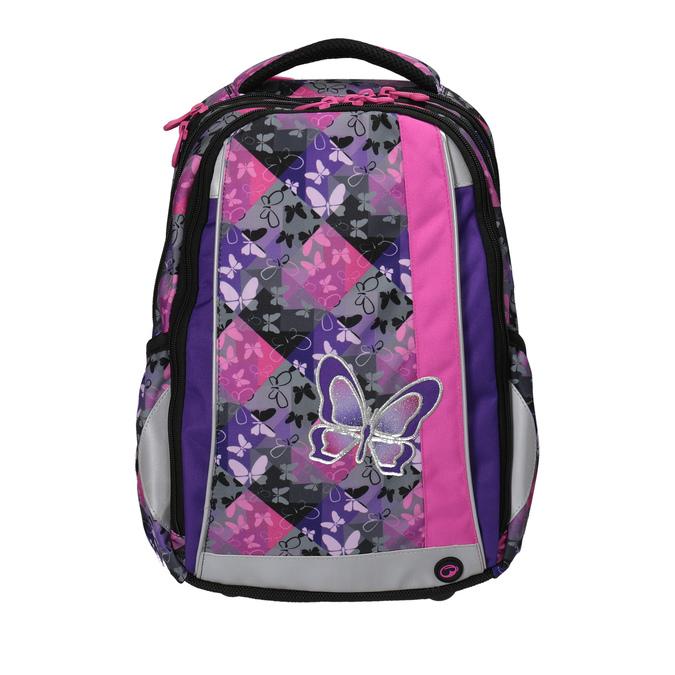 Schulrucksack mit Schmetterlingen bagmaster, Violett, Rosa, 969-5607 - 19