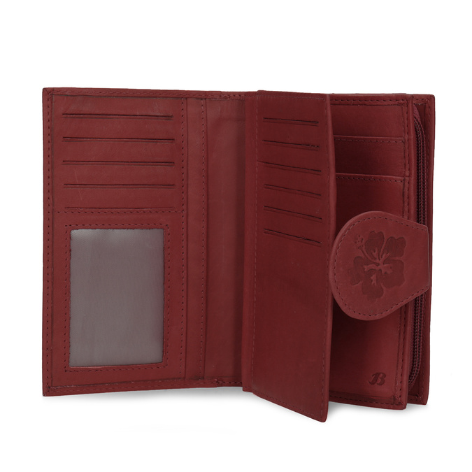 Damen-Geldbörse aus Leder bata, Rot, 944-5155 - 15