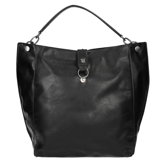 Schwarze Handtasche im Hobo-Stil bata, Schwarz, 961-6808 - 19
