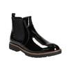 Chelsea Boots in Lackausführung mit markanter Sohle. bata, Schwarz, 591-6603 - 13