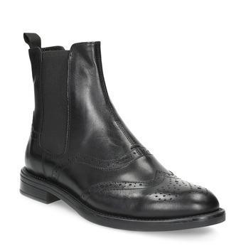 Chelsea Boots aus Leder mit Verzierung vagabond, Schwarz, 514-6002 - 13