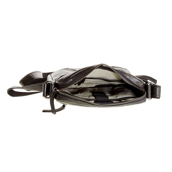 Crossbody-Tasche aus Leder, Schwarz, 964-6180 - 15
