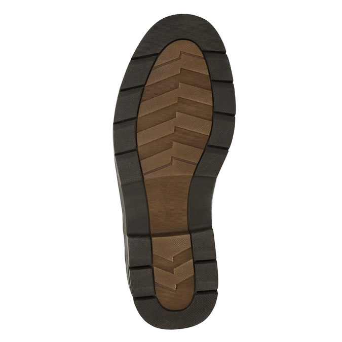 Legere Lederhalbschuhe mit massiver Sohle bata, Braun, 824-4698 - 19