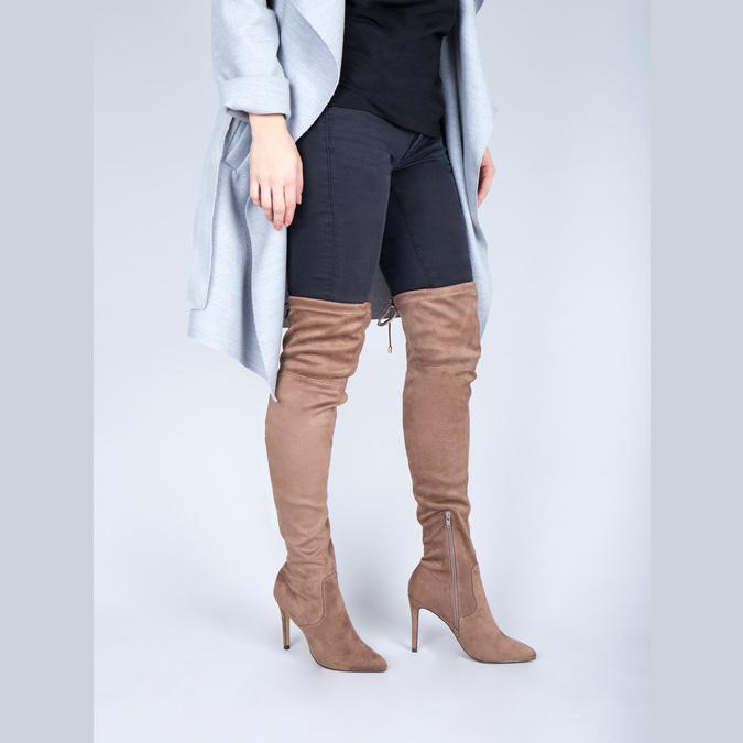 Damen-Overknee-Stiefel bata, Braun, 799-3600 - 18