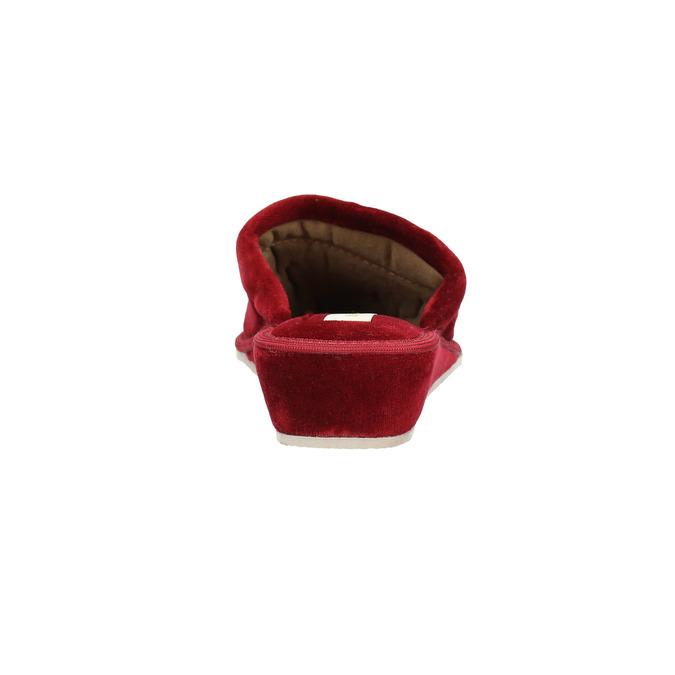 Damen-Hausschuhe mit Keilabsatz bata, Rot, 679-5607 - 17