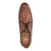 Lederhalbschuhe mit Muster bata, Braun, 826-3813 - 19
