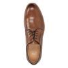Herrenhalbschuhe aus Leder mit stärkerer Sohle bata, Braun, 826-3809 - 17