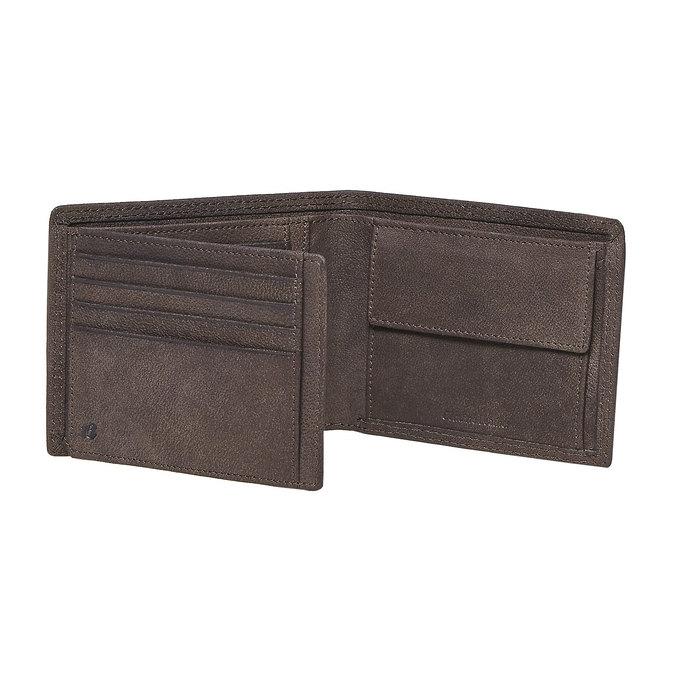 Herren-Geldbörse aus Leder bata, Braun, 944-4129 - 17
