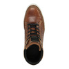 Knöchelhohe Sneakers aus Leder bata, Braun, 844-3631 - 19