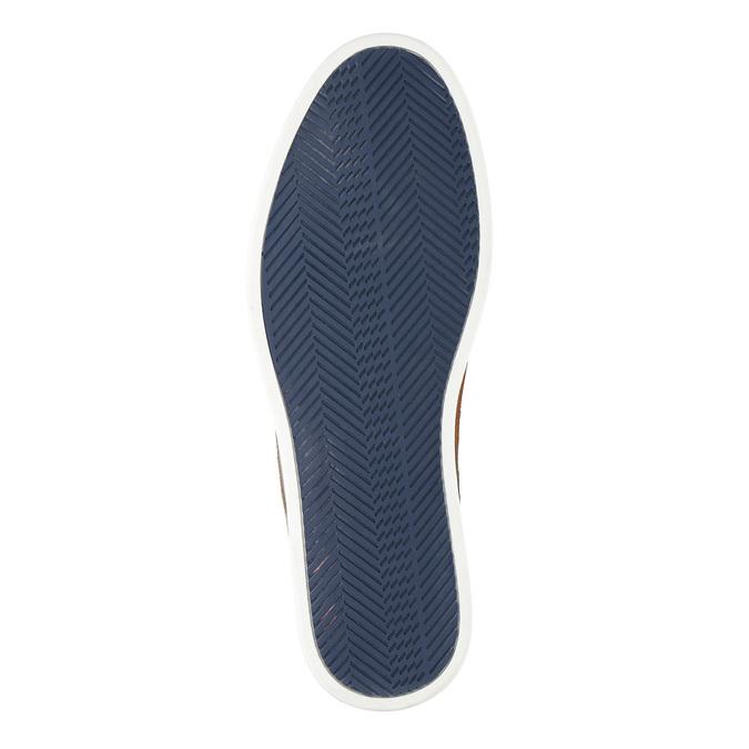 Legere Lederhalbschuhe bata, Blau, 843-9623 - 26