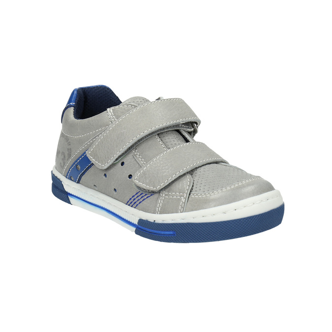 Kinder Leder-Sneakers mit Klettverschluss mini-b, Grau, 214-2600 - 13