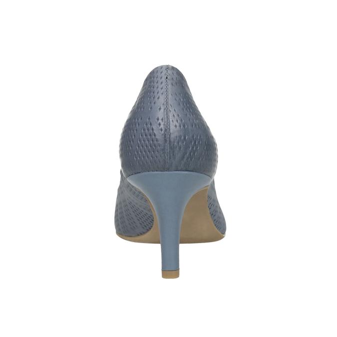 Lederpumps mit Perforation pillow-padding, Blau, 626-9636 - 17