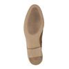 Leder-Knöchelschuhe mit Perforation bata, Braun, 596-4645 - 26