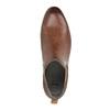 Knöchelhohe Chelsea Boots aus Leder mit Perforation bata, Braun, 596-4644 - 19
