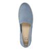 Damen-Lederschuhe mit Perforation bata, Blau, 516-9601 - 19