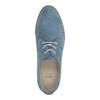 Blaue Leder-Halbschuhe bata, Blau, 523-9600 - 19
