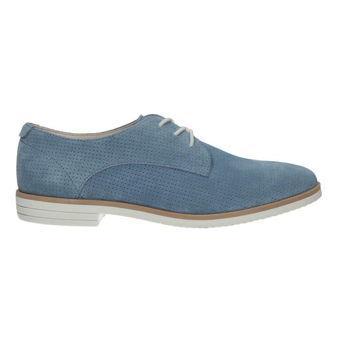 Blaue Leder-Halbschuhe bata, Blau, 523-9600 - 15