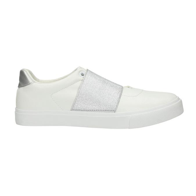 Weisse Sneakers mit silbernem Streifen north-star, Weiss, 511-1602 - 15