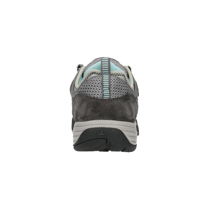 Damen-Outdoor-Schuhe aus Leder power, Grau, 503-2118 - 17