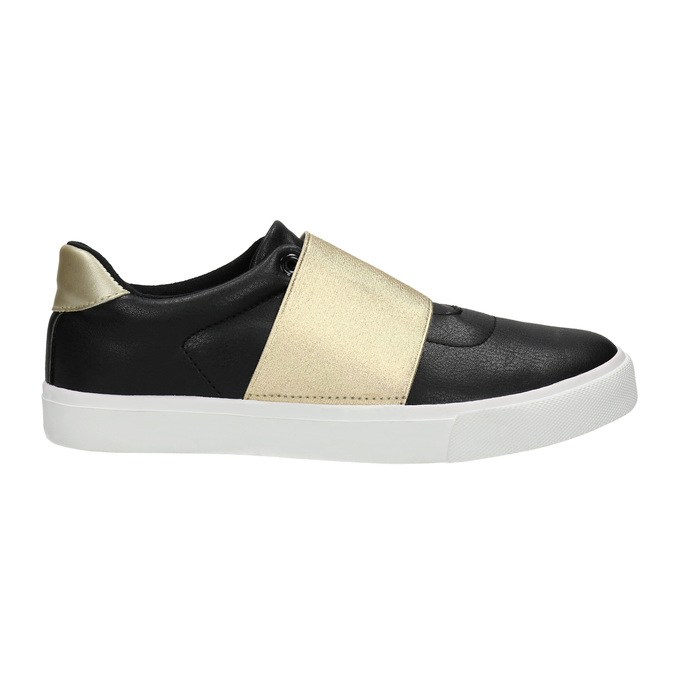 Schwarze Sneakers mit goldenem Streifen north-star, Schwarz, 511-6602 - 15