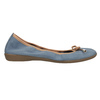 Blaue Leder-Ballerinas mit elastischem Rand bata, Blau, 526-9617 - 15