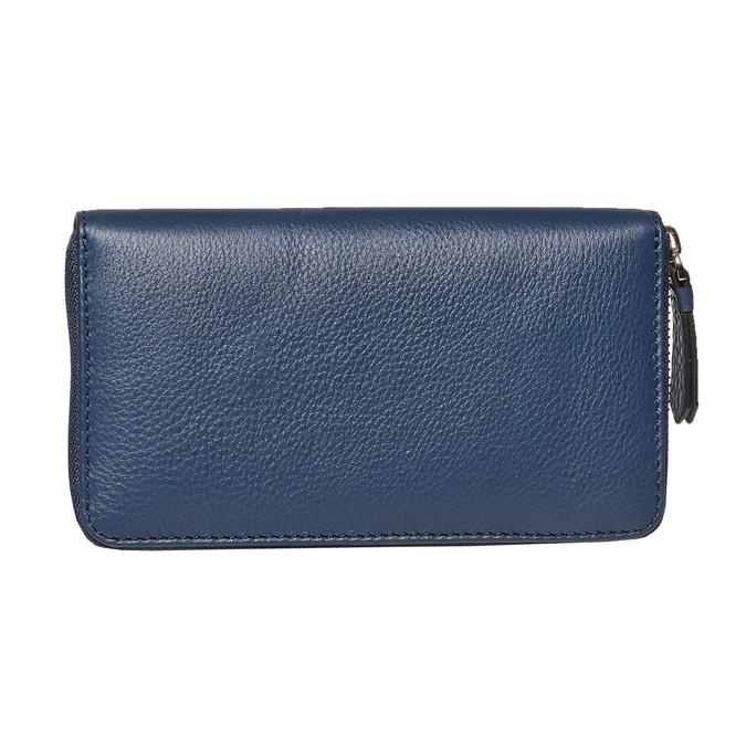 Blaue Damengeldbörse aus Leder bata, Blau, 944-9178 - 26