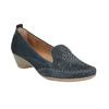 Damen-Leder-Mokassins der Weite H bata, Blau, 523-9603 - 13