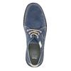 Legere Halbschuhe aus Leder bata, Blau, 853-9612 - 19