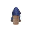 Lederpumps mit einem Riemchen über den Spann bata, Blau, 626-9641 - 17