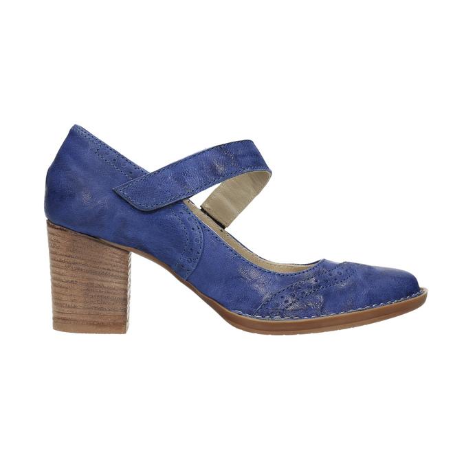 Lederpumps mit einem Riemchen über den Spann bata, Blau, 626-9641 - 15