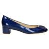 Lederpumps mit einem Schleifchen hogl, Blau, 628-9400 - 15