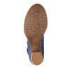 Lederpumps mit einem Riemchen über den Spann bata, Blau, 626-9641 - 26