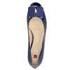 Lederpumps mit einem Schleifchen hogl, Blau, 628-9400 - 19