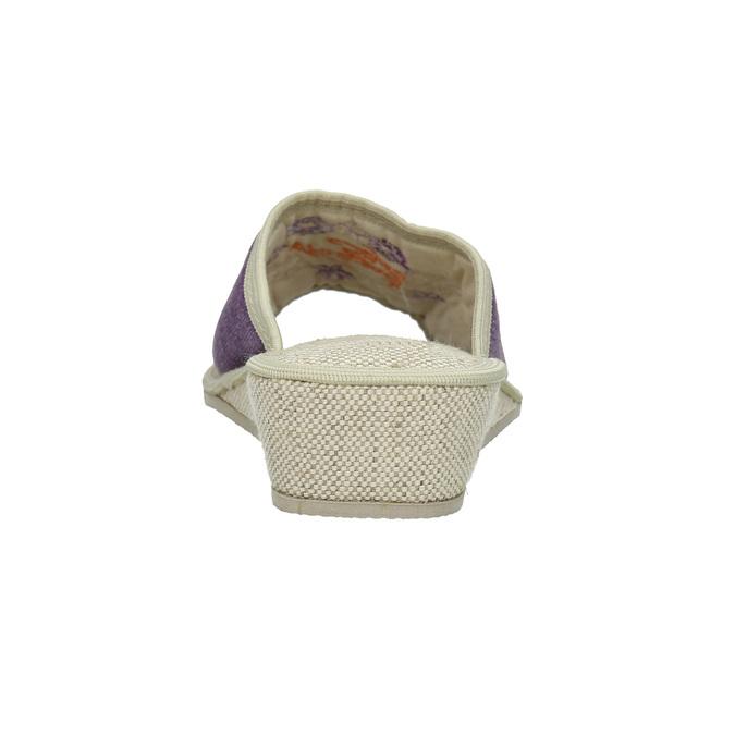 Damenhausschuhe mit Keilabsatz bata, Violett, 679-5620 - 17