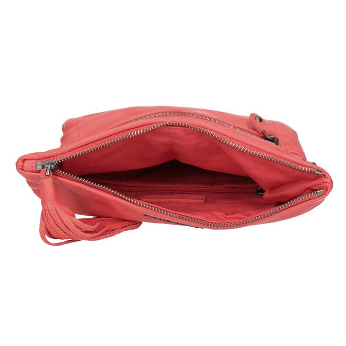Crossbody-Damenhandtasche aus Leder fredsbruder, Rot, 964-5037 - 15