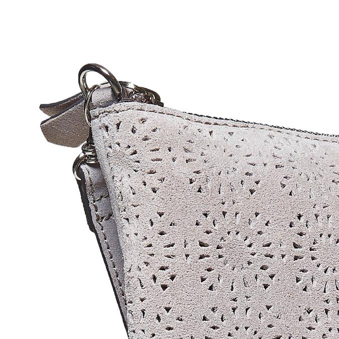 Crossbody-Handtasche aus Leder bata, Grau, 963-2135 - 17