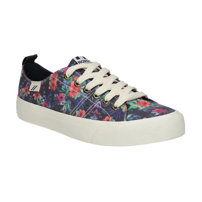 Damen-Sneakers mit Blumenmuster north-star, Schwarz, 589-6446 - 13