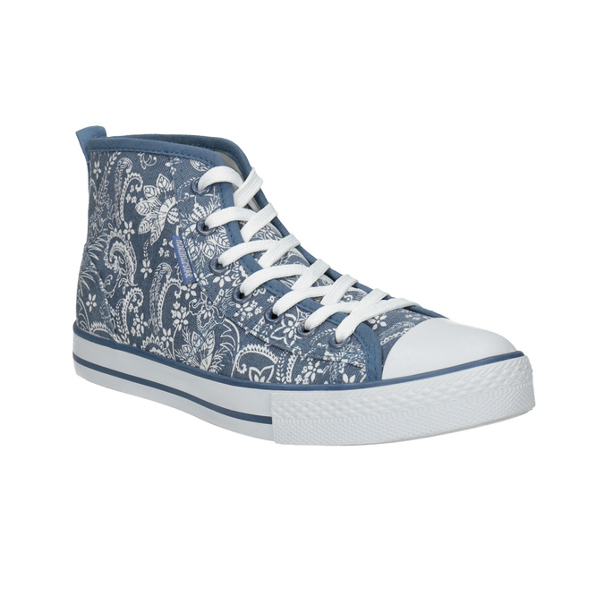 Knöchelhohe Damen-Sneakers mit Muster north-star, Blau, 589-9442 - 13