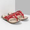 Damen-Flipflops mit markanter Sohle weinbrenner, Rot, 566-5611 - 26