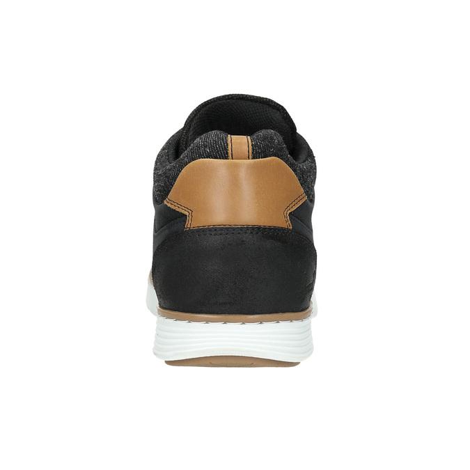 Knöchelhohe Herren-Sneakers aus Leder bata, Schwarz, 846-6641 - 17