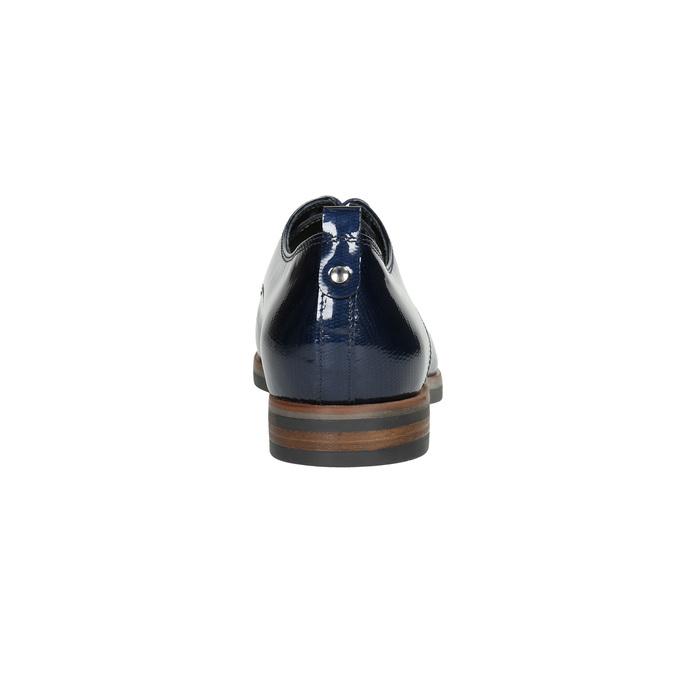 Damenhalbschuhe aus Leder bata, Blau, 528-9600 - 17