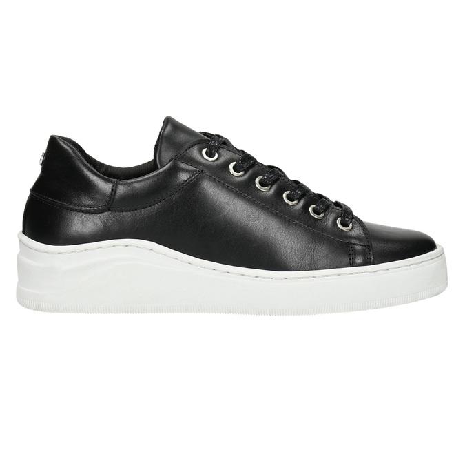 Leder-Sneakers mit markanter Sohle bata, Schwarz, 526-6641 - 15