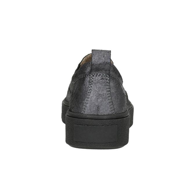 Damen-Slip-Ons mit schwarzer Flatform bata, Grau, 516-1613 - 17