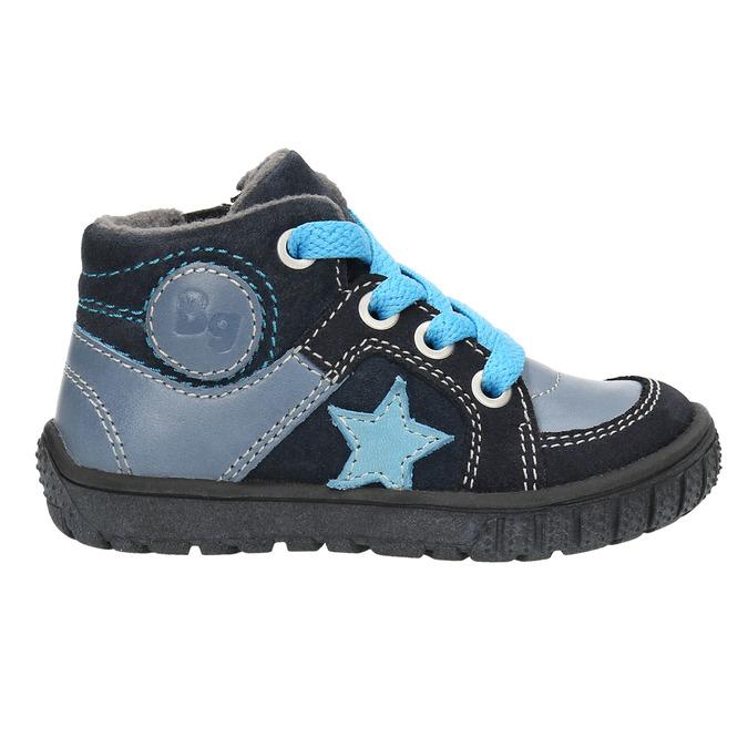 Knaben-Sneakers aus Leder bubblegummer, Blau, 113-9601 - 15