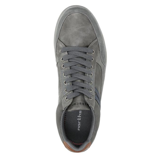 Graue Herren-Sneakers north-star, Grau, 841-2607 - 26
