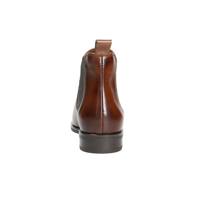Damen-Chelsea-Boots aus Leder bata, Braun, 594-4635 - 17