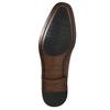 Lederhalbschuhe im Oxford-Stil mit Verzierung bata, Braun, 826-3690 - 19